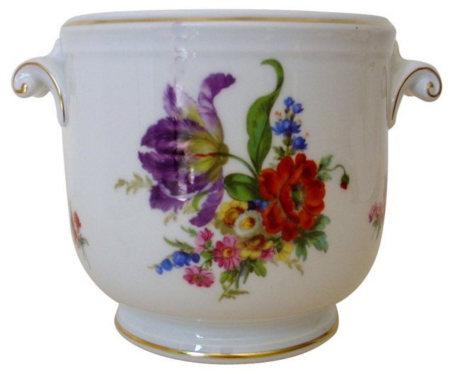 Richard Ginori Floral Cachepot