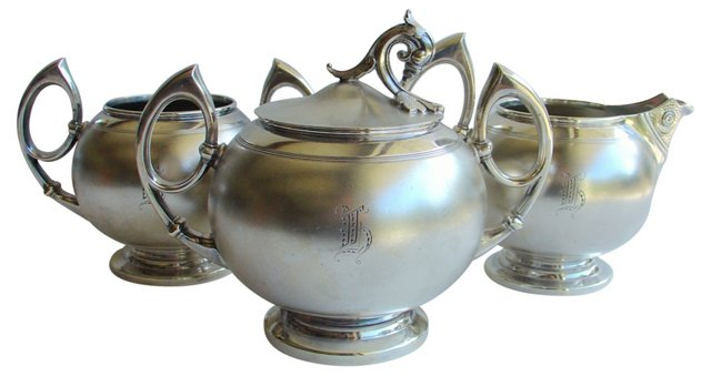 Tufts Silver    Tea Set, 3 Pcs