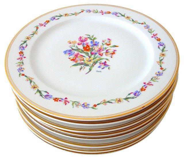 Floral Raynaud Dinner Plates, Set of 8