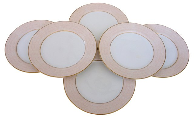 Adobe Peach  Plates, Set of 6