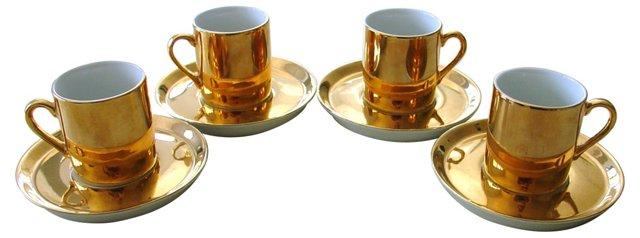 Neiman Marcus Demitasse Cups, Set of 4