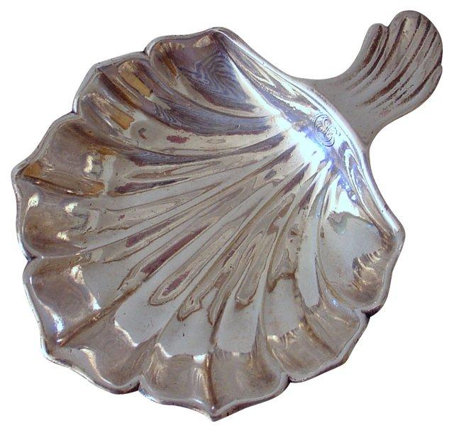 Christofle Silver Leaf Dish