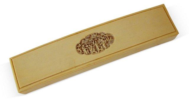 Elongated Asian Box w/ Elaborate Carving