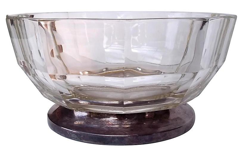 Glass & Silver Bowl
