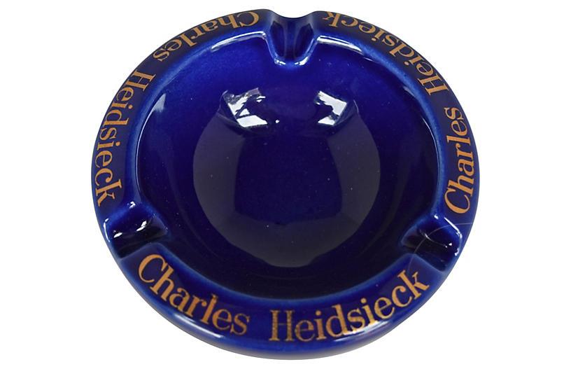 Charles Heidsieck Champagne Ashtray