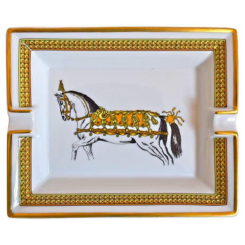 Hermès France Regal Horse Cigar Ashtray