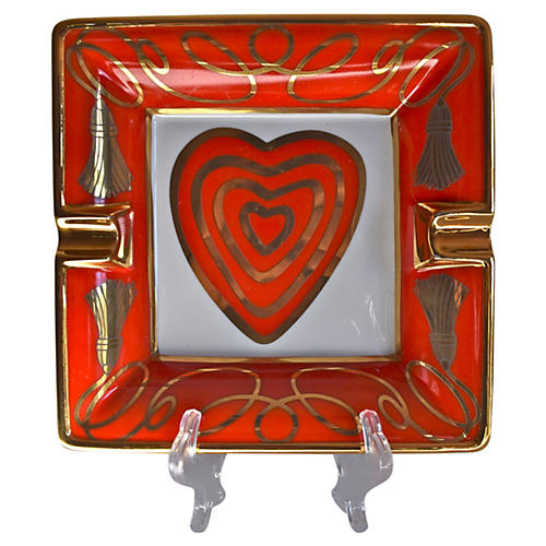 Escada Red Heart Ashtray