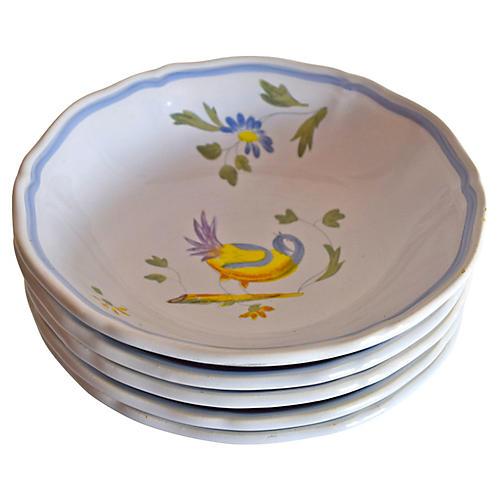 Longchamp Hand-Painted Bowls, S/5
