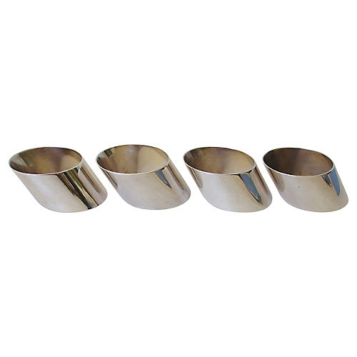 Silver-Plate Napkin Rings, S/4