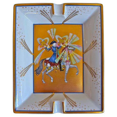 Hermès Feux D'Artifices Gilded Ashtray