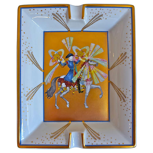 Hermès Feux D'Artifices Gilded Ashtray