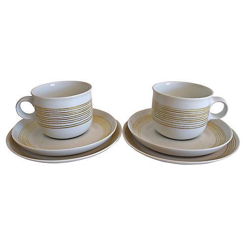 Hutschenreuther Cups & Saucers, 6 Pcs
