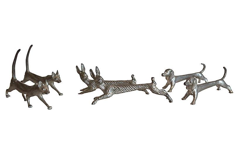 Dog, Cat & Rabbit Knife Rests, S/6