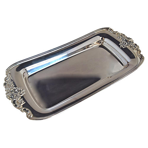 Wallace Baroque Silver-Plate Tray