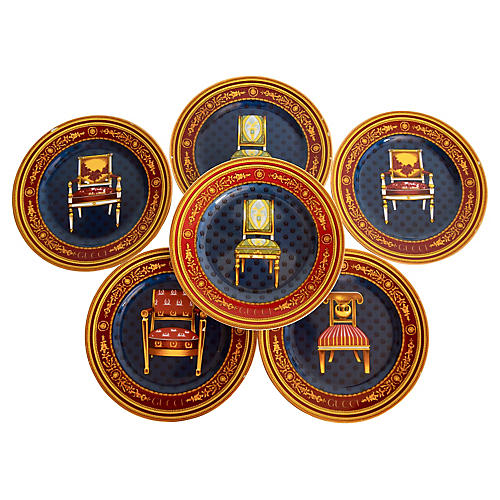Gucci Chair Plates, S/6