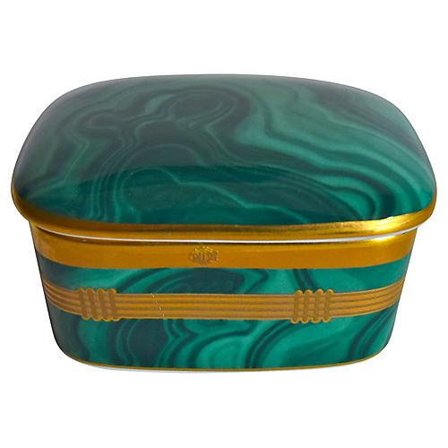 Christian Dior Gilded Malachite Box