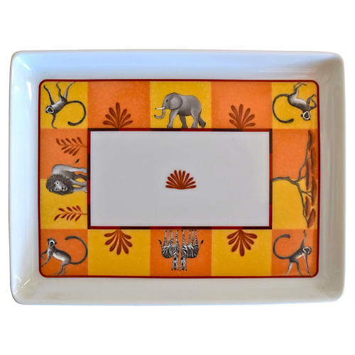Hermès Orange Africa Tray w/ Box