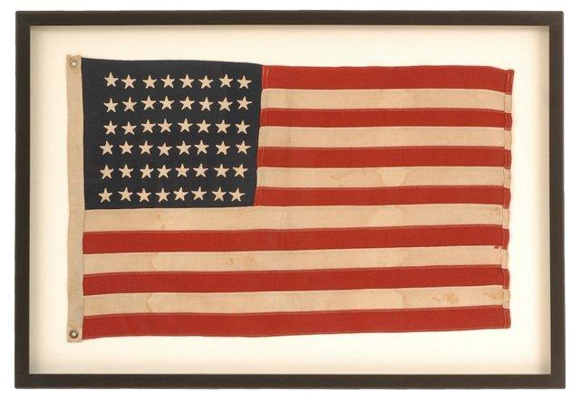 Framed 48-Star American Flag
