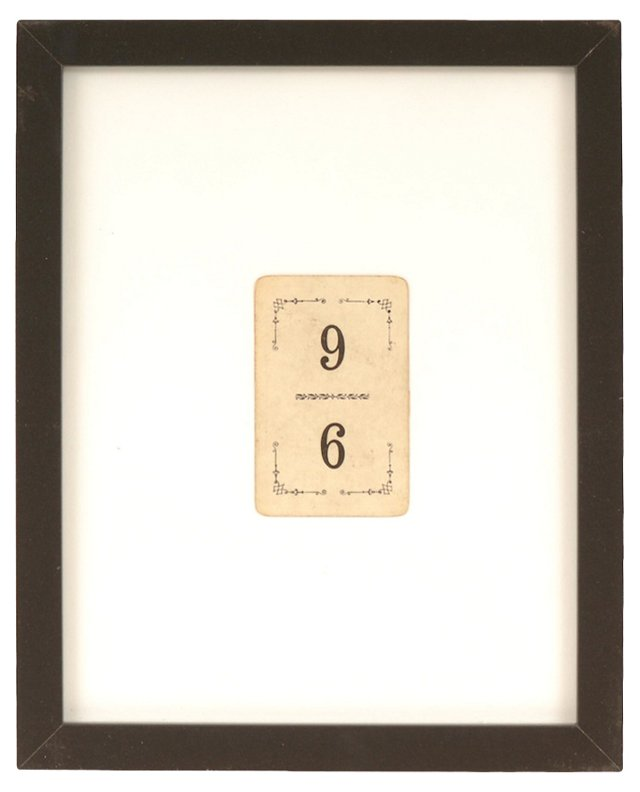 Framed French #9 Flinch Card