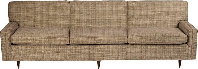 Midcentury Tweed Couch