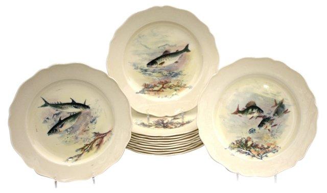 Royal Doulton Fish Plates, S/12