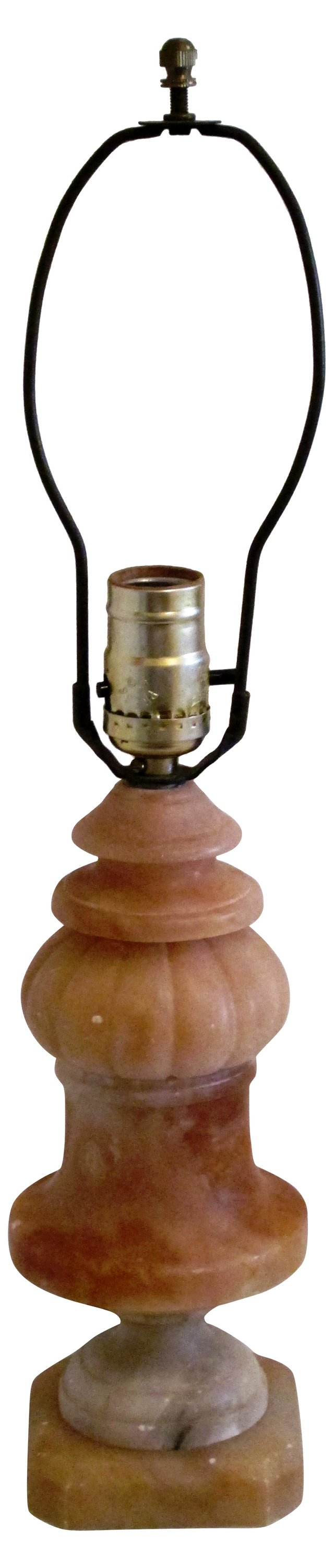 Carved Alabaster Baluster Lamp