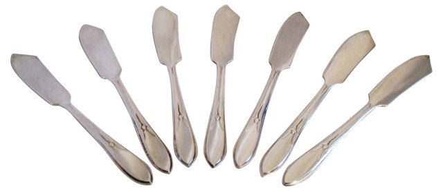 Silverplate Butter Knives, S/7