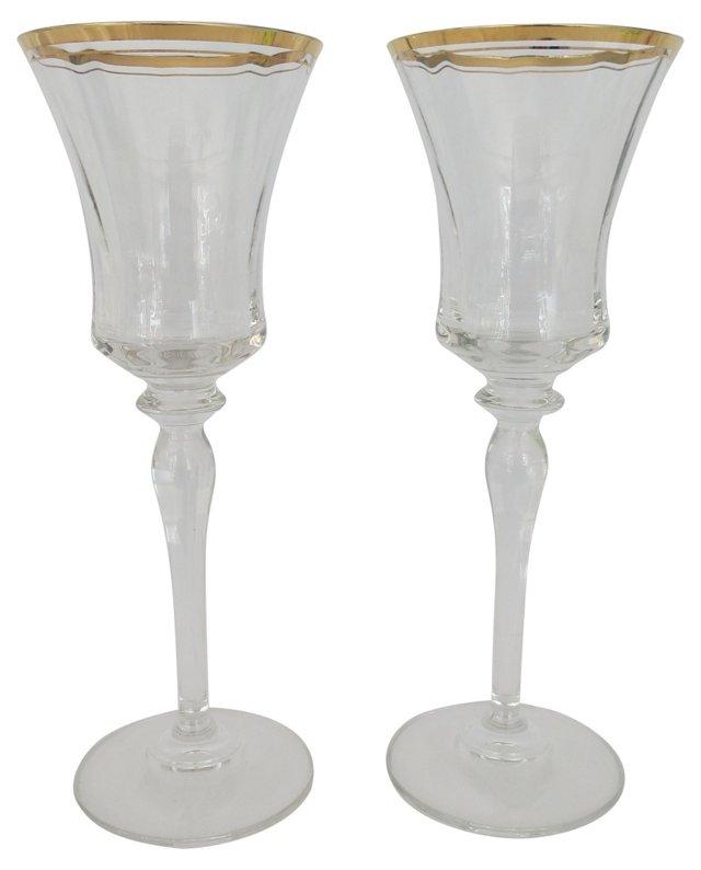 Crystal Toasting Glasses, Pair