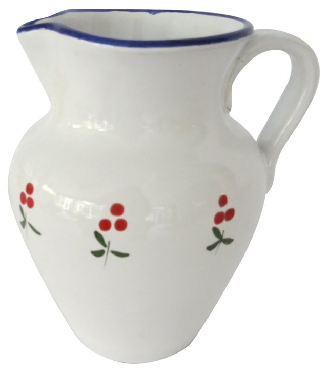 Italian Hand-Painted Pitcher