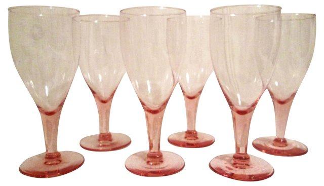 Pink Stemware, S/6