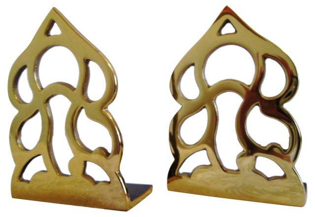 Monticello Brass Bookends