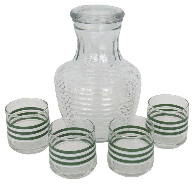 Juice Pitcher & Glasses, 5 Pcs