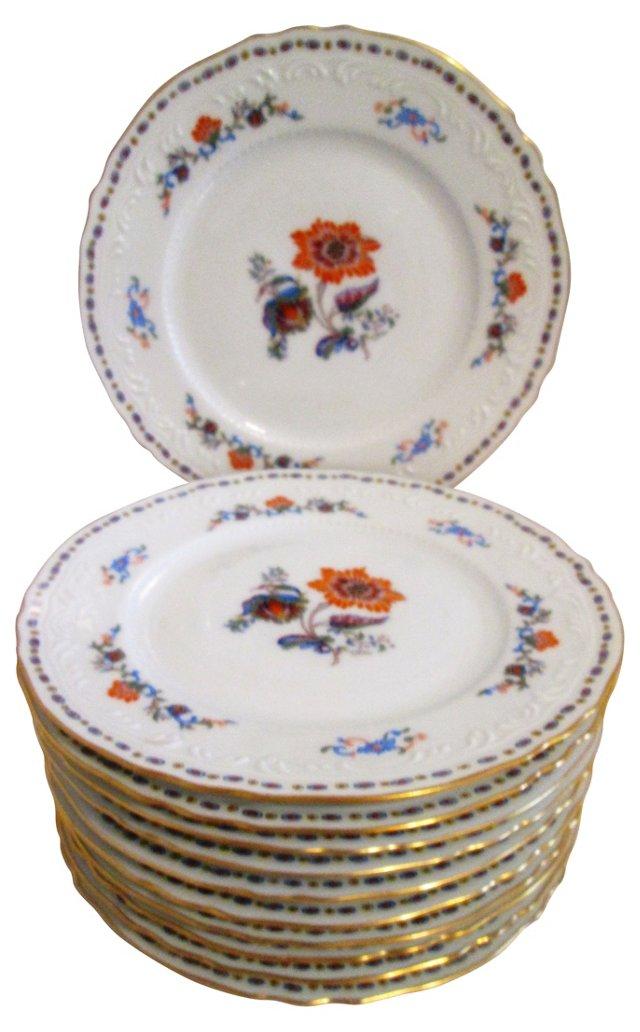 French Limoges Dessert Plates, S/11