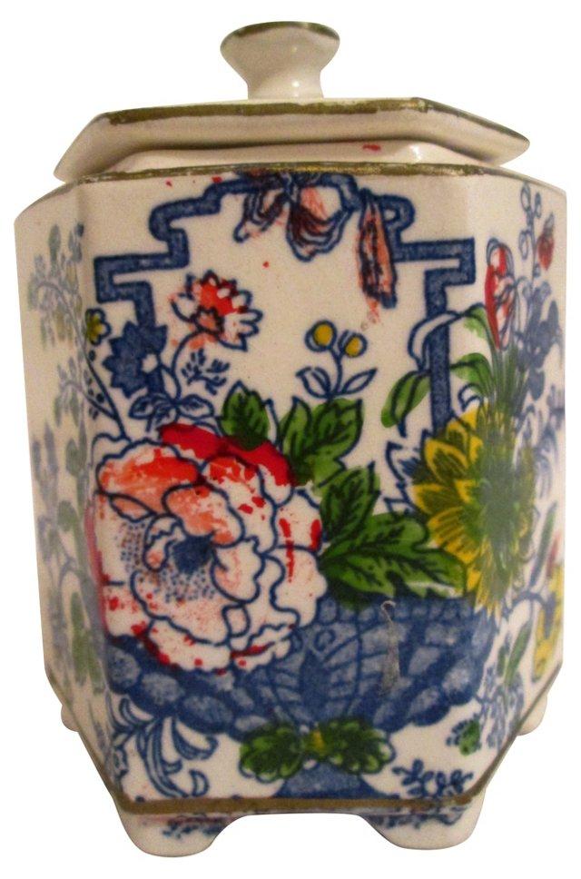 Asian Floral Tea Jar