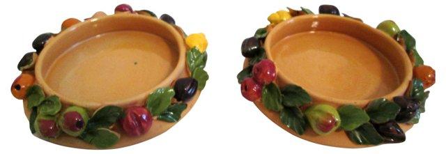 Terracotta Wine Coasters, Pair