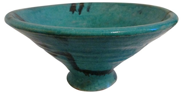Turquoise Handmade Pottery Bowl