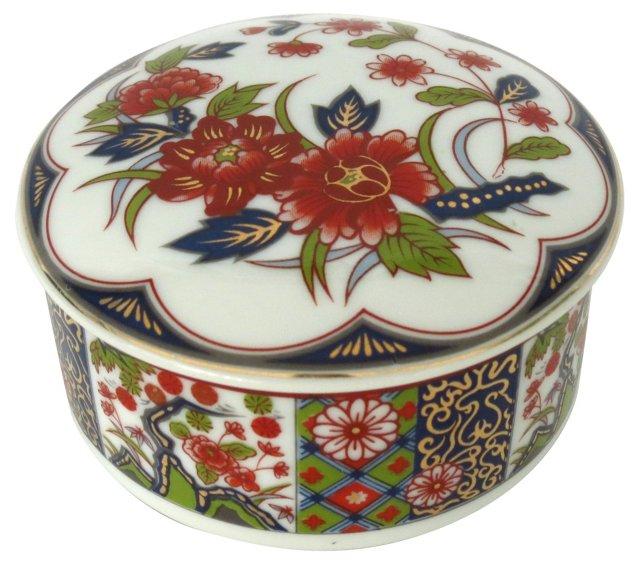 Tajimi Porcelain Trinket Box with Lid