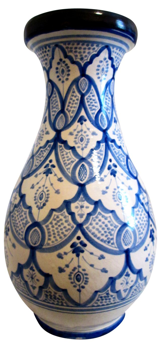 French Handmade Ceramic Vase
