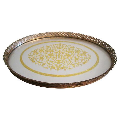 Filligree Gold & Silver Foil Vanity Tray