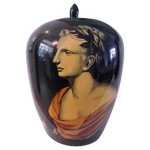 Roman Profile Lidded Jar