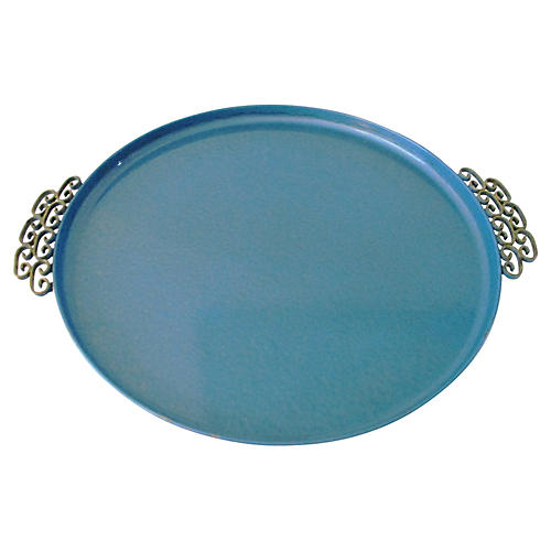 Midcentury Kyes Sea Blue Tray