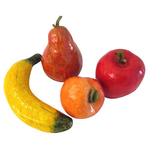 Mexican Papier-Mâché Fruit, S/4
