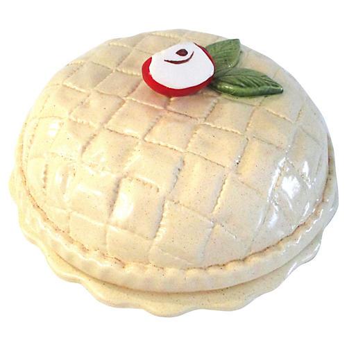 Ceramic Lidded Apple Pie Keeper