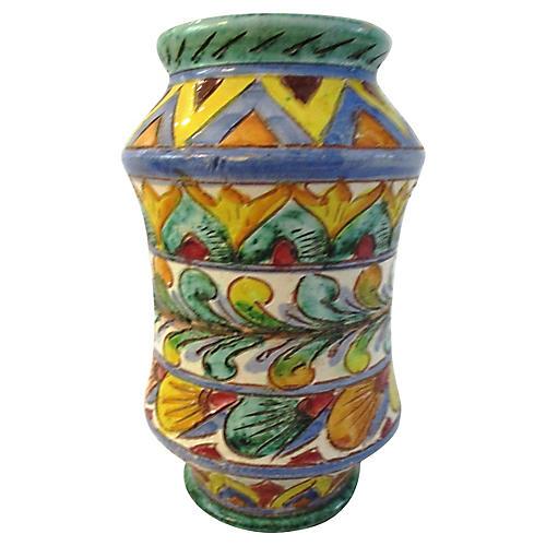 Midcentury Italian Majolica Vase