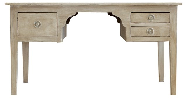 19th-C. French Painted Pine Desk