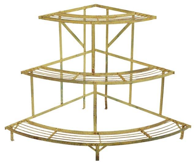 3-Tier Metal Garden Shelf