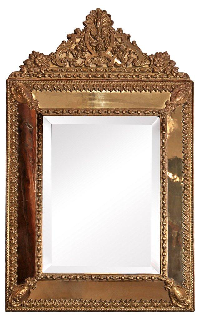 Napoleon III Brass Mirror