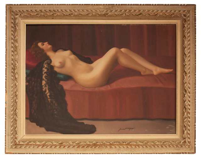 French Nude, Framed