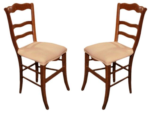 Antique Provençal Side Chairs, Pair