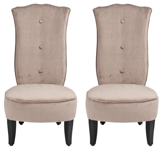 French  Art Deco Vanity Chairs, Pair